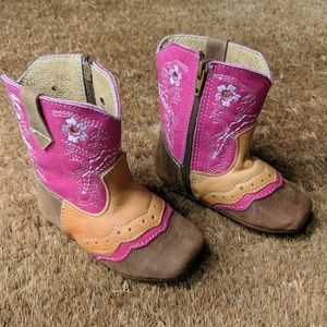 Other - Baby leather cowboy boots, never Worn, no tags